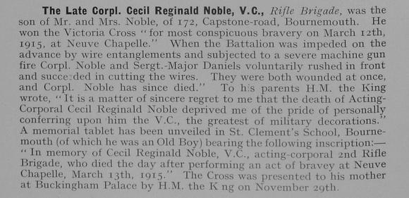 UK Photo Archive: 1917 &emdash; Noble C R Cpl VC Rifle Brigade 1