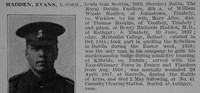 Hadden E LCpl 10th Royal Dublin Fusiliers Obituary De Ruvignys Roll Of Honour Vol 3