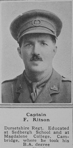 UK Photo Archive: R &emdash; Ritson F Captain Dorset Regt The Sphere 18th Aug 1917
