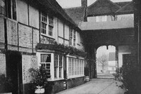 The Courtyard Of The Talbot Inn Ripley Surrey 1940s