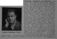 Taylor C M 2nd Lt Royal Field Artillery Obit Part 1 De Ruvignys Roll Of Honour Vol 3