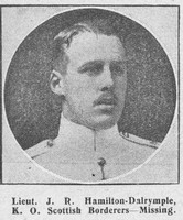 Hamilton-Dalrymple J R Lt Kings Own Scottish Borderers The Graphic 5th Sep 1914