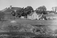 Harbottle Castle And Village Northumberland 1940s