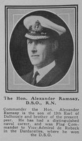 Ramsay A Comm The Hon DSO Royal Navy The Sphere 4th Jan 1919