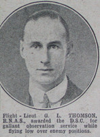 Thomson G L Flt Lt DSC RNAS The War Illustrated 8th April 1916
