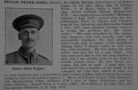 Fegan P J Pte 62996 Machine Gun Corps Obit De Ruvignys Roll Of Honour Vol 5