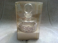 BHS Victoriana Range Boxed Perfume Bottle With Silver Plated Trim