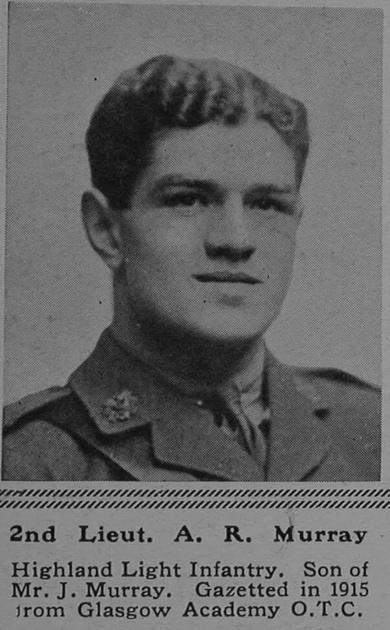 UK Photo Archive: M &emdash; Murray A R 2nd Lt 4th Attd 17th Highland Light Infantry The Sphere 27th Jan 1917