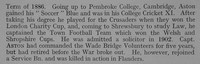 Aston F M Captain 6th Duke Of Cornwalls Light Infantry Obit Part 2 Shrewsbury School Roll Of Service