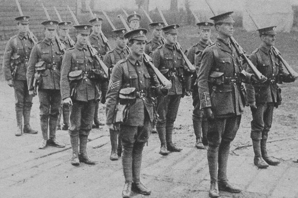 The 17th Empire Battalion Royal Fusiliers In Training