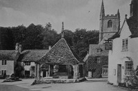 The Market Cross Castle Combe Wiltshire 1930s